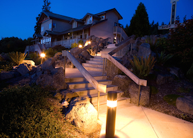 Night Landscaping And Architecture