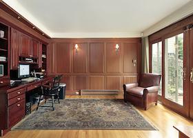 Cherry Wood Paneled Library